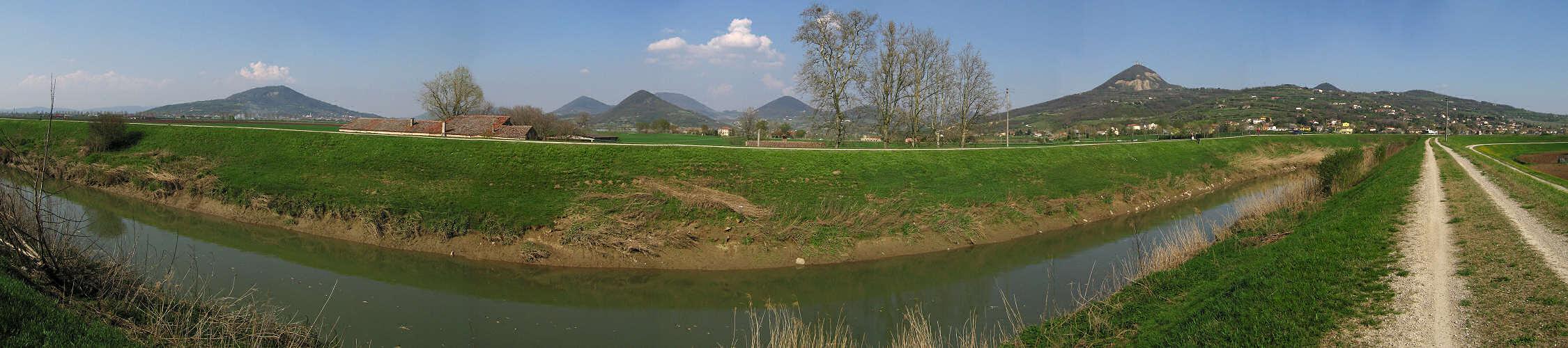 Argine fiume Frassine Guà